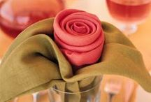 DIY Napkin Folding ~ Napkin Rings ~ Place Cards / by Kathy Jones ~ Dust Bunny Trail