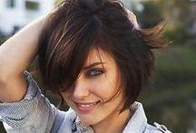 Hair I love / Hair, short bob style, hair color, shoulder length hair, highlights, ombré, A line bob, beach hair, wedding guest hair, sexy waves, messy ponytail.  / by LeAnne Quinn