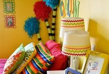 Kid Room Decor Ideas / Fun decorating ideas for colorful kiddo bedrooms! / by Sarah McKenna of Bombshell Bling