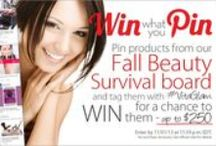 WIN what you PIN - Fall Beauty Survival Board / Win what you pin! - Fall Beauty Survival Guide Pin products from our Fall Beuty Survival board and tag them with #VitaGlam for a chance to WIN the products you pinned! Up to $250 ! / by Vitacost.com