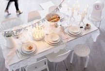 _set the table & party preparation / party hats, cupcakes, table setting, wrapping and sweet pastries / by Martina Mejermo