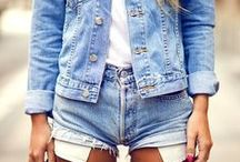 _style / blue denim / shorts, overalls, jackets, vests and pants / by Martina Mejermo