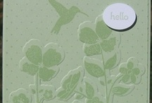 Wildflower Meadow-Stampin Up / Cards featuring Wildflower Meadow stamp set and embossing folder / by Sue Richardson