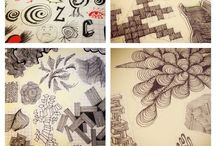 Sketches, Doodles & Zentangles / Inspiration for sketches to practice / doodle / by Maria Villasana