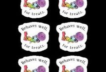 Stickers and Phone Cases / A few designs that are only available as stickers and phone cases / by Amy-Elyse Neer