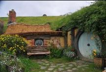 HOBBIT Holes and hobbit inspiration / by Mindy Owen