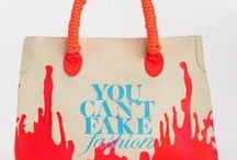 CFDA: You Can't Fake Fashion / eBay and the CFDA are raising awareness against counterfeit goods and celebrating original design in the fashion industry. Following an exclusive preview during New York Fashion Week S/S 2013, the new collection of totes, including one-of-a-kind designer totes customized by 90 of America's foremost designers, will be sold exclusively on eBay beginning March 18, with all proceeds benefitting the CFDA. / by eBay Fashion