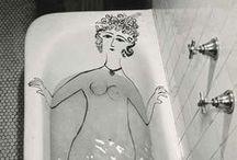 bathe / Bathroom Washroom Tiles / by Narth