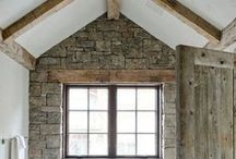 All things BARNLIKE / Post and Beam design homes, Barn designed homes  Love Timbers and plastered walls and soaring ceilings / by Kristy Larson