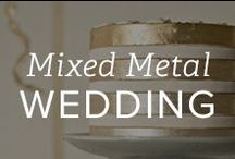 Mixed Metal Wedding, Curated By Bespoke Bride / The metallic hues of gold, silver, and platinum aren't just perfect for customizing jewelry: it's a gorgeous color palette for a wedding. Wedding blogger Bespoke Bride has curated a collection of beautiful inspiration to create your mixed metal wedding. / by Gemvara.com