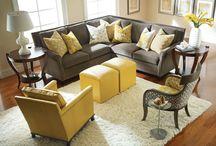 Yellow & Gray/Black/White: Living Rooms / by Seri Dreiling