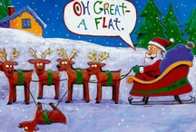 Here Comes Santa Claus! / I just love the Christmas season, and especially all the 'old time' Santas that take me back to when I was little girl growing up in the 60's. / by Nancy Elsworth