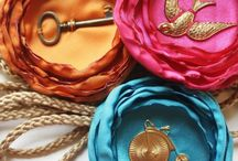 Headbands, Barretts, Pins, Brooches, Fabric Flowers / by Keri Garrett