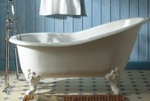 Bathrooms / love a new bathroom with vintage qualities and primitives added / by Anne