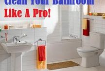 CLEANING TIPS : BATHROOM / by Connie Huffman