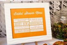 Dessert Table - Citrus Brunch / Citrus brunch party and dessert table for wedding reception, bridal shower, luncheon or summer celebration. / by Hello My Sweet
