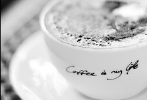 take time to smell the coffee / my coffee is my best friend. we get together first thing in the morning and hang out with each other thru out the day.  i can always count on my coffee to lift me up when i am down and calm me when i am stressed.  / by Anna Marotto