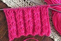 Puntos o puntadas en dos agujas o palillos (tricot) / En mi página encontrarás fotos, instrucciones escritas y video explicativo de cada uno de los puntos o puntadas. (Knitting stitches) / by Tejiendo Perú