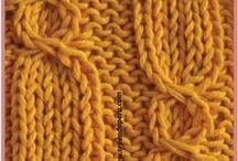 Trenzas, ochos o cuerdas tejidos en dos agujas o palillos / by Tejiendo Perú