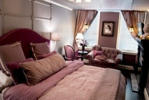 Edgar Allan Poe Suite / On the second floor it is Inspired by the loves & works of this genius. Envelope yourself in paneled walls & luxurious fabrics as you curl up in the plush parlor area beside the fireplace or write out postcards at your own desk. The upholstered King-Sized Select Comfort mattress with dual control offers the utmost in made to fit relaxation. Unwind under the steamy sprays of an oversized rain showerhead with 8 customizable settings in the large bath with combination shower/tub. / by Scarborough Fair Bed & Breakfast