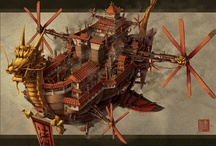 Steampunk Airships | steampunkdistrict.com / by SteampunkDistrict.com }