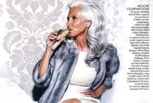 SILVER  A PALETTE FOR SILVER, WHITE AND SALT &PEPPER HAIR / COLORS THAT LOOK GREAT ON WOMEN WITH SILVER HAIR / by George Brescia