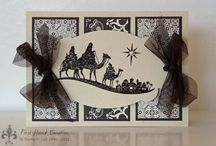 Cards( Black& White) / Rubber stamping cards is a favorite hobby of mine. A lovely color combination black and white is. Sooo striking together. / by Helen Senesac