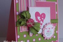Cards( Valentine& St Pats) / Cards with a St Patricks day and Valentines day theme.Thanks to all the stampers who have shared their pretty handmade cards. / by Helen Senesac