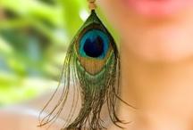 Peacock Earrings  / by ThePlaidBarn