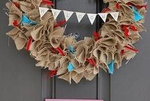 Burlap Ribbon Ideas  / by ThePlaidBarn