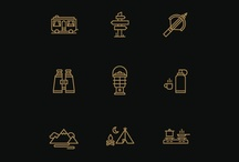 assorted :: icon + pictogram / icon : pictogram : glyph : dingbat : sets : user : interface : ui : web : digital : interactive : mark : logo : simple : graphic : design / by sun yun
