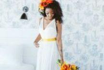 Tangerine Wedding Inspiration / by CHROMATICgallerie