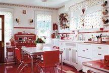 ღ Red & White Kitchen ღ   / by Lisa Coulter