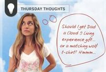 #Thursday Thoughts / Here at Cloud 9 Living, we often have our heads in the clouds! / by Cloud 9 Living Experience Gifts