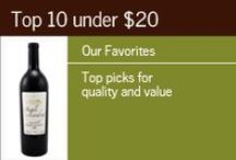 """Top 10 Wines Under $20 / Browse our selection of Top 10 Wines Under $20 - wines from California, France, Spain, Argentina, etc. Gary's Wine and Marketplace was named 2012's """"Retailer of the Year"""" by Beverage Dynamics for a Reason. Our wine team travels each year to the wine-producing regions of the world, so we can offer you extraordinary wine at unbelievable prices! / by Gary's Wine & Marketplace"""