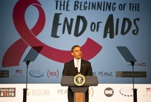 """Beginning of the End of AIDS / To mark World AIDS Day, on Dec 1st in Washington DC, (RED) & ONE hosted a high-level event on reaching """"The Beginning of the End of AIDS"""" by 2015 featuring President Barack Obama, former Presidents George W. Bush & Bill Clinton, President Kikwete of Tanzania, Bono, Alicia Keys, & more. / by (RED)"""