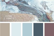 For the Home--Palette / Cool tones, jewel tones, icy pastels, Caribbean coastal, French country, turquoise, cobalt, poppy, taupes and greys:  greige, mauve, lilac, seafoam,  sage, ... / by Martheil Mauthe-Clanton