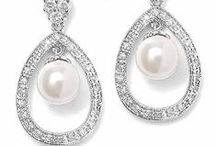 Pearl Bridal Earrings / Pearl Bridal earrings for the bride, mother of the bride or mother of the groom to wear on the wedding day and many occasions thereafter. Earrings featuring freshwater pearls and or simulated pearls and crystals. / by Wedding Bedazzle