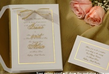 Gold Wedding Invitations Ideas for the Bride / Wedding invitations featuring the elegant color of gold. Invitation photos, ideas and information to assist the bride with her wedding invitation purchase. / by Wedding Bedazzle