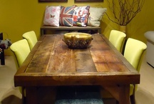 Benton Barn Wood Collection / The wood to make these tables are repurposed from beautiful barns throughout Holmes County, Ohio that were built more than 100 years ago! Benton gets it's name from the small village where the reclaimed barn wood originates. / by Norwalk Furniture