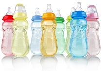 Bottles:  just add MILK / We are committed to making feeding simple and easy for you and your baby. Our bottles are designed to be safe, comfortable and fun to use. / by Nûby USA