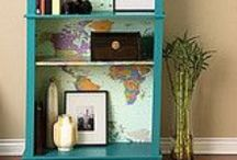 Home- Bookcases / I would like these bookcases in my current home. Many of these pins can be on some of my other boards, too. Bookcases and Furniture- Create / by Heather Loertscher