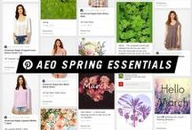 AEO Spring Essentials  / It's time for your #AEOStyle to spring forward. Check out AE.com for warm weather essentials. / by American Eagle Outfitters