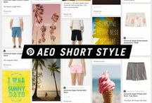 AEO Short Style  / Take the shortcut this spring with AEO shorts! We've got you covered from Longboard for guys to Midi for girls and beyond.  / by American Eagle Outfitters