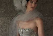 Silver & Pewter Metallic Weddings / Deborah Lindquist Eco Couture vintage metallic silk organza wedding gowns in silver and pewter tones. With pins from things we love to create a themed wedding. / by Deborah Lindquist
