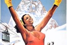 Vintage Ski Posters - Italy / You might also like my boards featuring ski posters from other countries. / by Poppy Gall