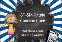 6th-8th Common Core / Welcome to the 6th - 8th Grade Common Core Pinterest page! We hope you find valuable resources to help support the new Common Core Curriculum standards. **Note to Collaborative Pinners* Please make sure to not pin the same product multiple times on multiple boards in the same day. It crowds the Pinterest feed of followers. To keep our followers please try to pin a mixture of free products, blog posts, and paid products. Remember this is a collaborative board. :) Thanks so much.... ~Pam  / by Pam Rountree