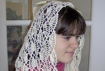 Custom Crocheted Catholic Chapel Veils (and more) / http://www.artfire.com/ext/shop/studio/VelleMere / by Velle Mere Lyons
