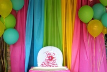 Plastic Table Cloths - Birthday Party Ideas / Amazing ideas for using plastic tablecloths to decorate a birthday party.   Backdrops, swags, curtains ... and so much more!!   / by Birthday Party Ideas 4 Kids