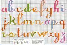 Cross Stitch Alphabet / Cross stitch alphabet / by Velle Mere Lyons